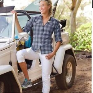 Athleta Happy Trails Plaid Shirt